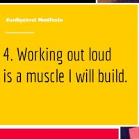 #unSquirrel Manifesto 4: Work Out Loud #WOLyo!