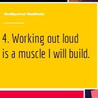 #unSquirrel Manifesto 4: Work Out Loud #WOLyo!