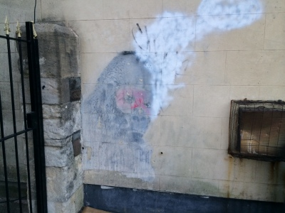 Original (painted over) Banksy: what is..what could be...